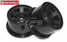 Velg, TPS 6-Spaaks Nylon Zwart, (Ø120-B80 mm), 2 st.