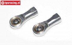 TPS4437/04R Aluminium Kogel kop, M8R/Ø5 mm, 2 St.