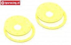 BWS59089/02Y Beadlock Disk Neon-Geel Ø120 mm, 4 St.