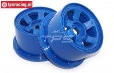 Velg, TPS 6-Spaaks Nylon Blauw, (Ø120-B80 mm), 2 st.