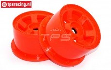 Velg, TPS 6-Spaaks Nylon Rood, (Ø120-B80 mm), 2 st.