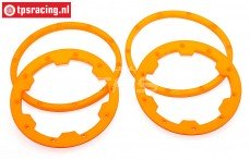 TPS5030/OR Beadlock Nylon Oranje, (Ø120 mm), 4 st.