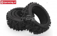 TPS Racing V-Cross Medium met schuim, (Ø120-Ø170-B60 mm), 2 St.
