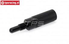 TPS0354/03 Aluminium Zuiger stopper Zwart, 1 st.